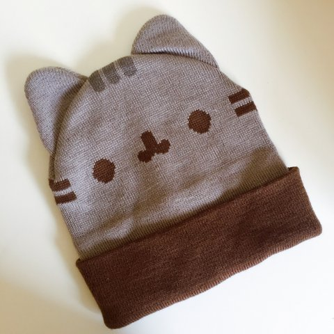 3e1c07f50149c Pusheen the Cat beanie!! Only worn once! Still in good So 💓 - Depop