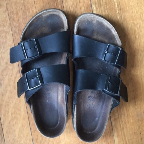 7b74bf387a4 black size 38 arizona birkenstocks in great condition!! as i - Depop