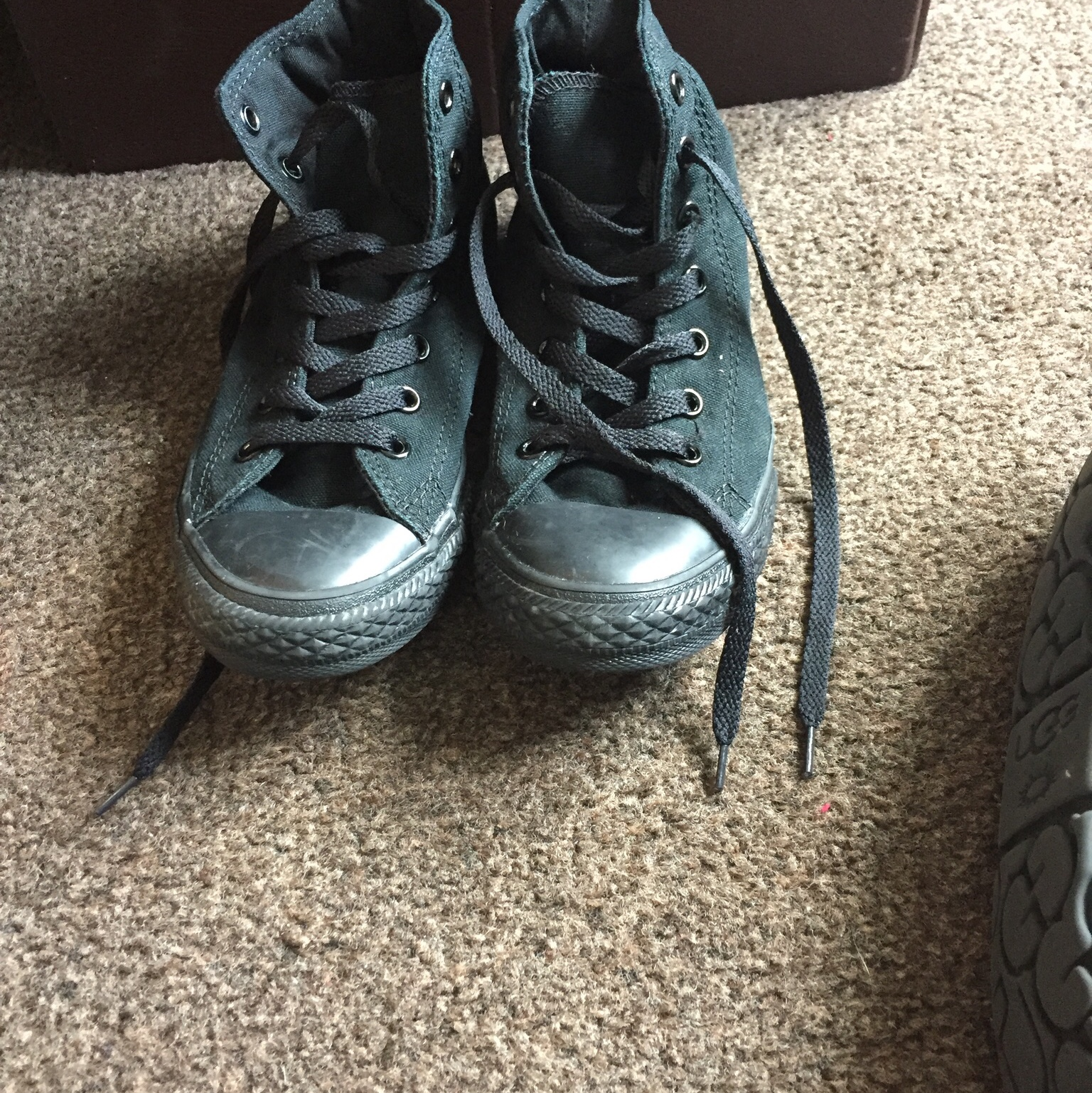 Black converse High tops Size 2.5 In good condition Depop