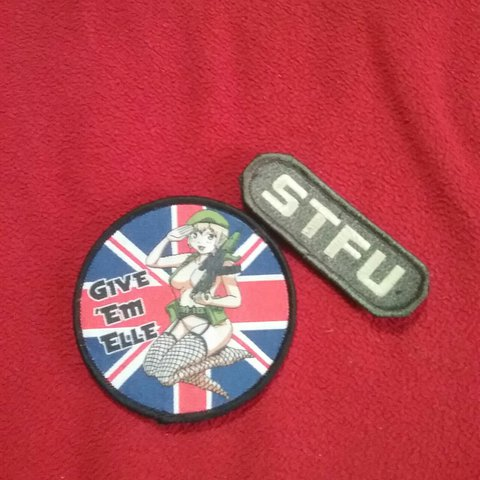 This a is a 2pc  velcro military patches or for any one who