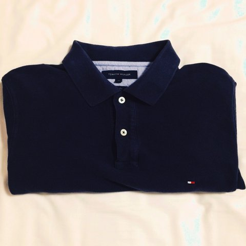 bdc30404 @londonvintageoutlet. 2 years ago. London, United Kingdom. Tommy Hilfiger  Polo Shirt - Long Sleeved - Navy Blue ...