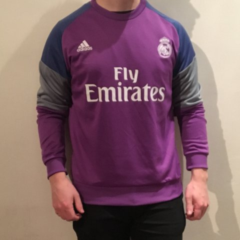 afb1fcacb Adidas Real Madrid Long sleeve training kit   shirt   jersey - Depop