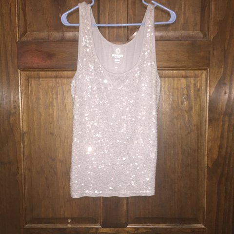614f8836fae62a Women s Old Navy sequined grey tank top. New without tags. - Depop