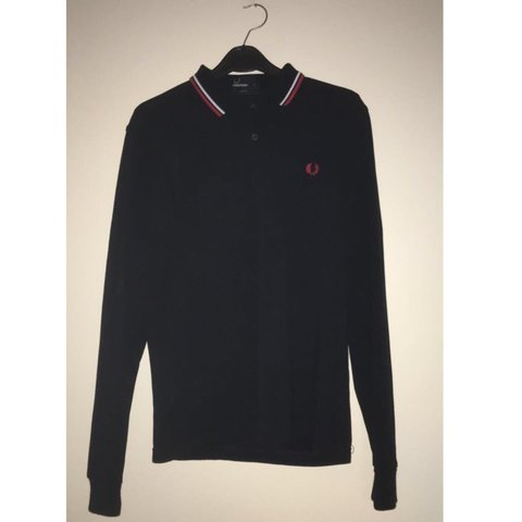 d3d40900 @panos10. 9 months ago. Portsmouth, United Kingdom. Men's dark blue Fred  Perry long sleeve polo shirt. Men's small