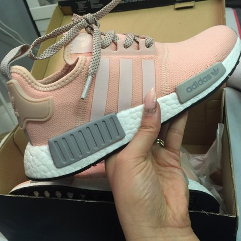 20aa83e1ccfc1 Adidas nmd r1 vapour pink limited edition Office  Offspring - Depop