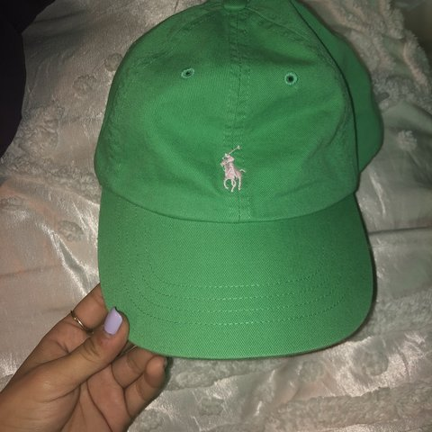 071a64a06c Polo hat great condition Lime green colorway yellow horse