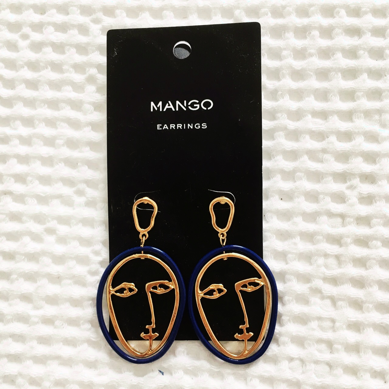 5c25dde496292 A pair of much sought after MANGO face earrings.... - Depop