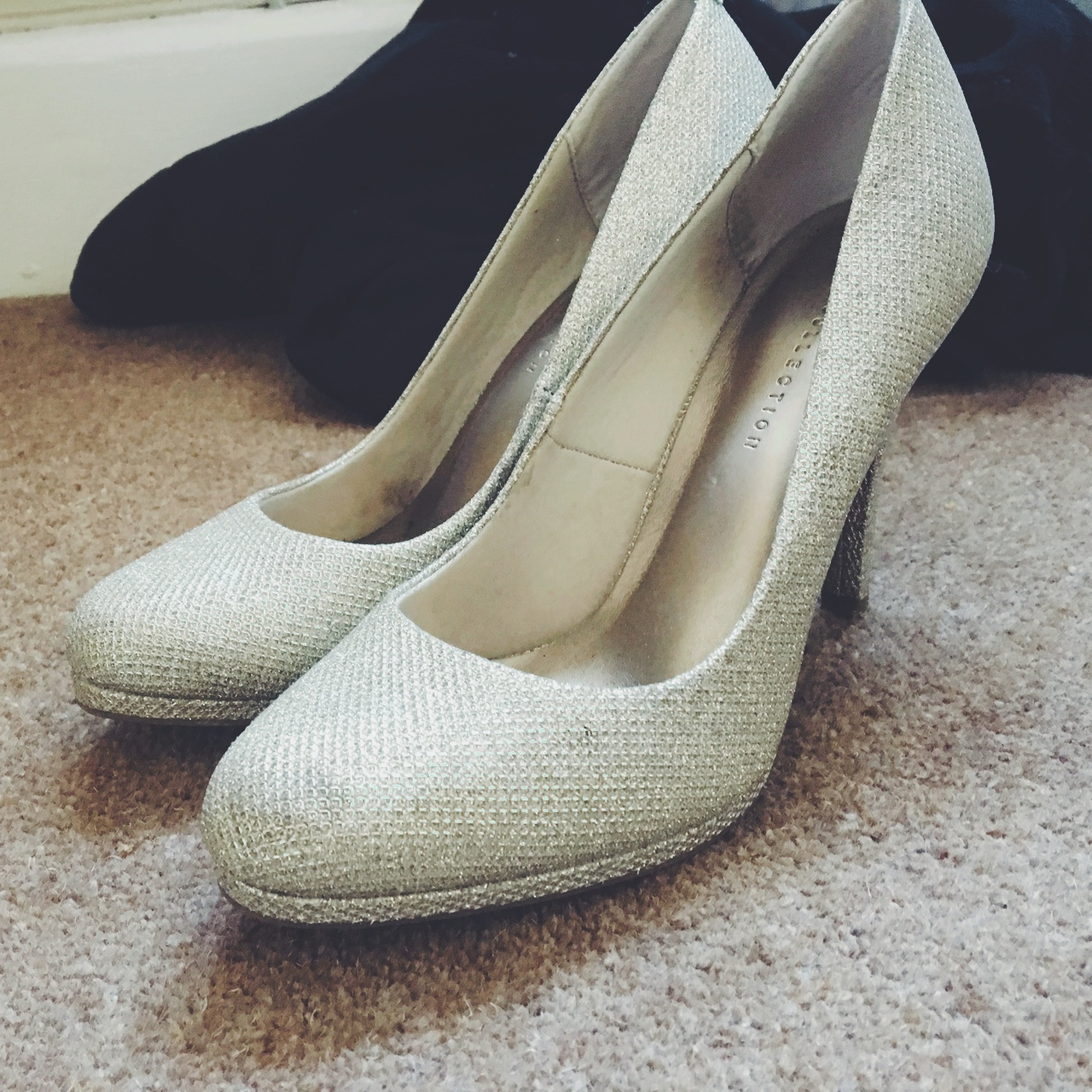 M and s gold glitter shoes. Worn once
