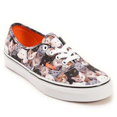 ba819da92f Limited Edition Vans Authentic ASPCA Cats Kittens Women s - Depop