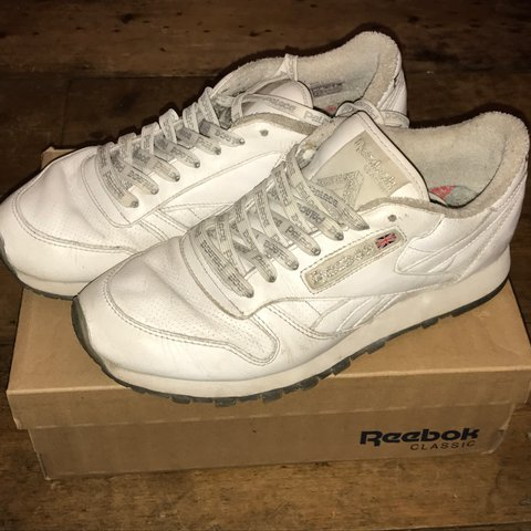 d92217b3c68 Palace X reebok classic white trainers size 7. Been worn n a - Depop