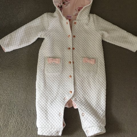 647961dc8398 Baby girl Ted Baker pramsuit 3-6 Months So gorgeous  bows - Depop