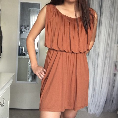 e8d6f6f1394 LUSH TAN BROWN MINI SOFT DRESS SIZE  no tag