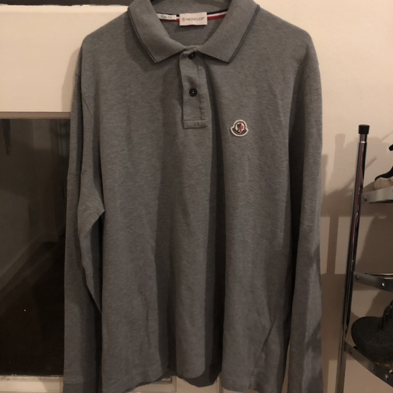 c9aaae5bec8 Moncler long sleeved polo top. Size