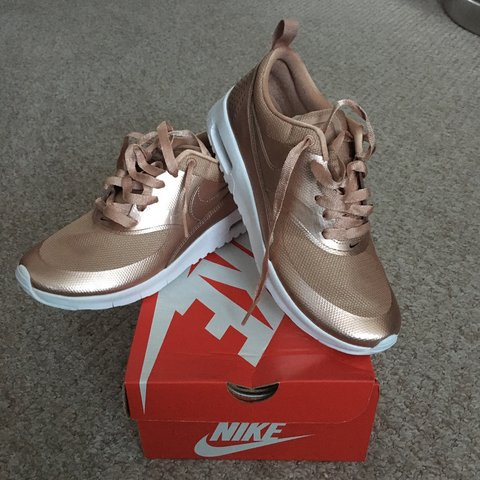 dbe9a15a18b2 Nike Air Max Thea rose gold trainers. BRAND NEW! With box. - Depop