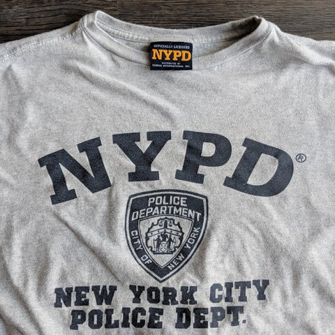 6d3f43c8b NYPD t-shirt! Super cool authentic apparel. Great condition. - Depop