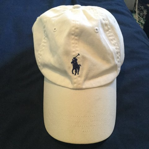 19e54e0268f Polo Ralph Lauren 🏇 Dad Hat. White and navy blue. 8 10 on A - Depop