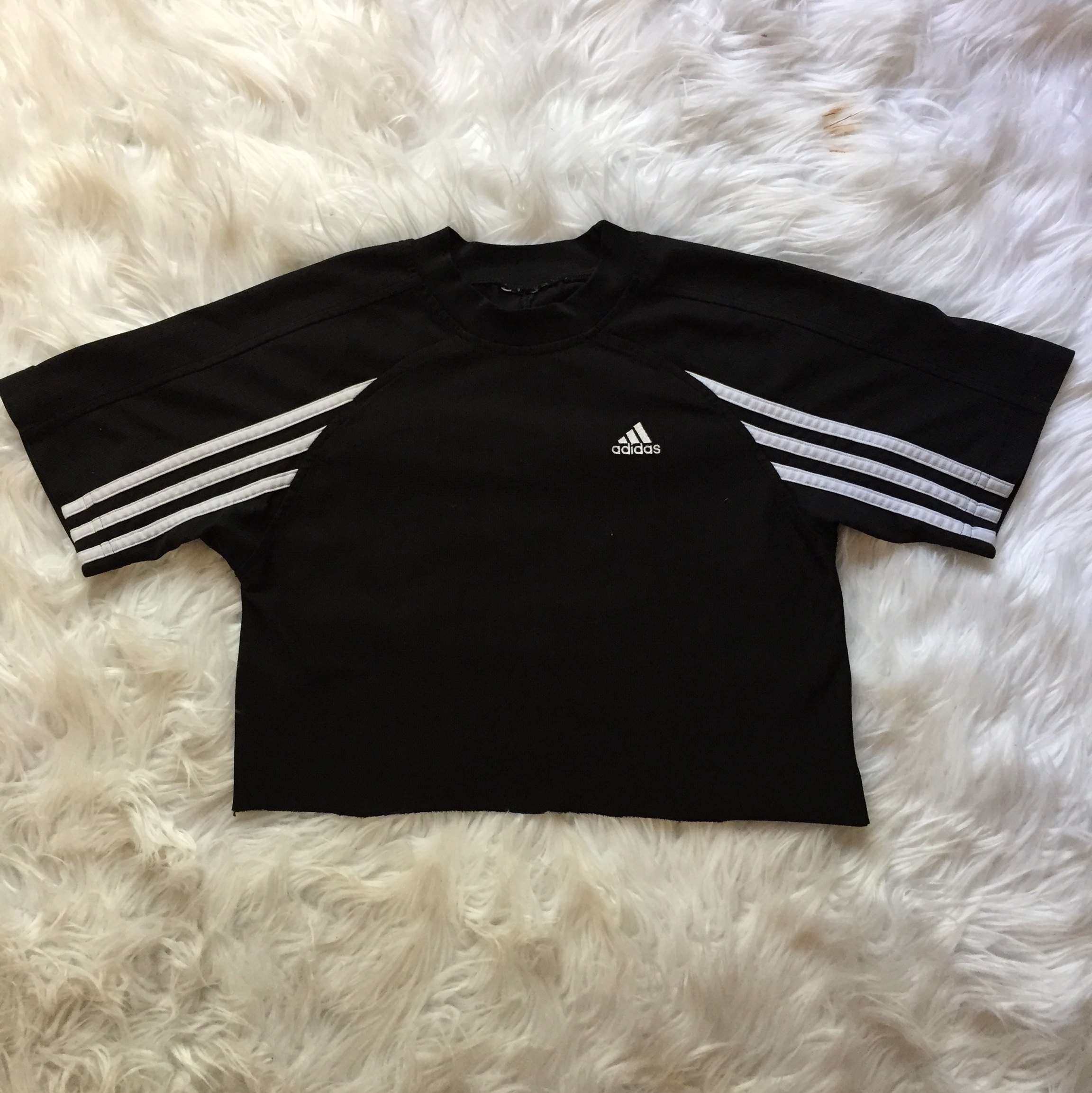 Adidas hand cut crop top. No tag but fits like small Depop