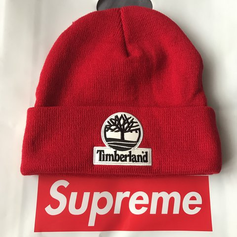 f6d7f00261 Supreme x Timberland Red Beanie. Worn no more than 3 times. - Depop