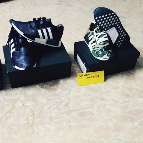 8b47d9f3 Bape NMD. #Bape x Adidas NMD. Heat🔥. Yet to be released in - Depop
