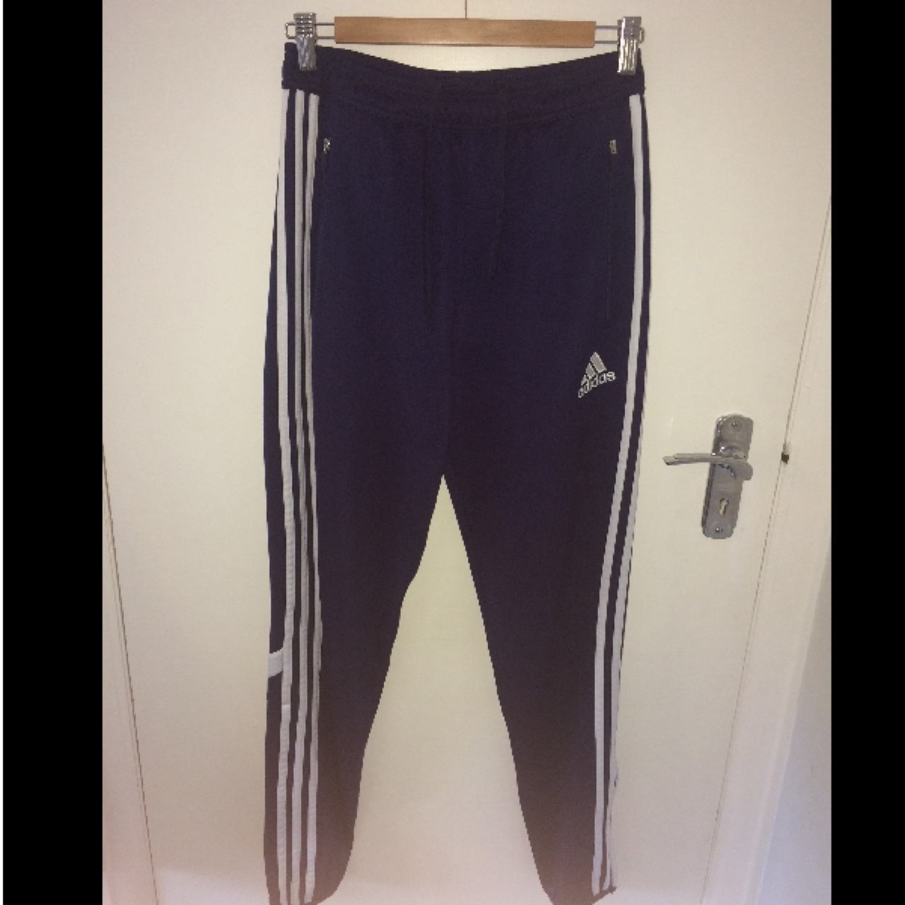 Size Small, Blue adidas climacool tracksuit bottoms....