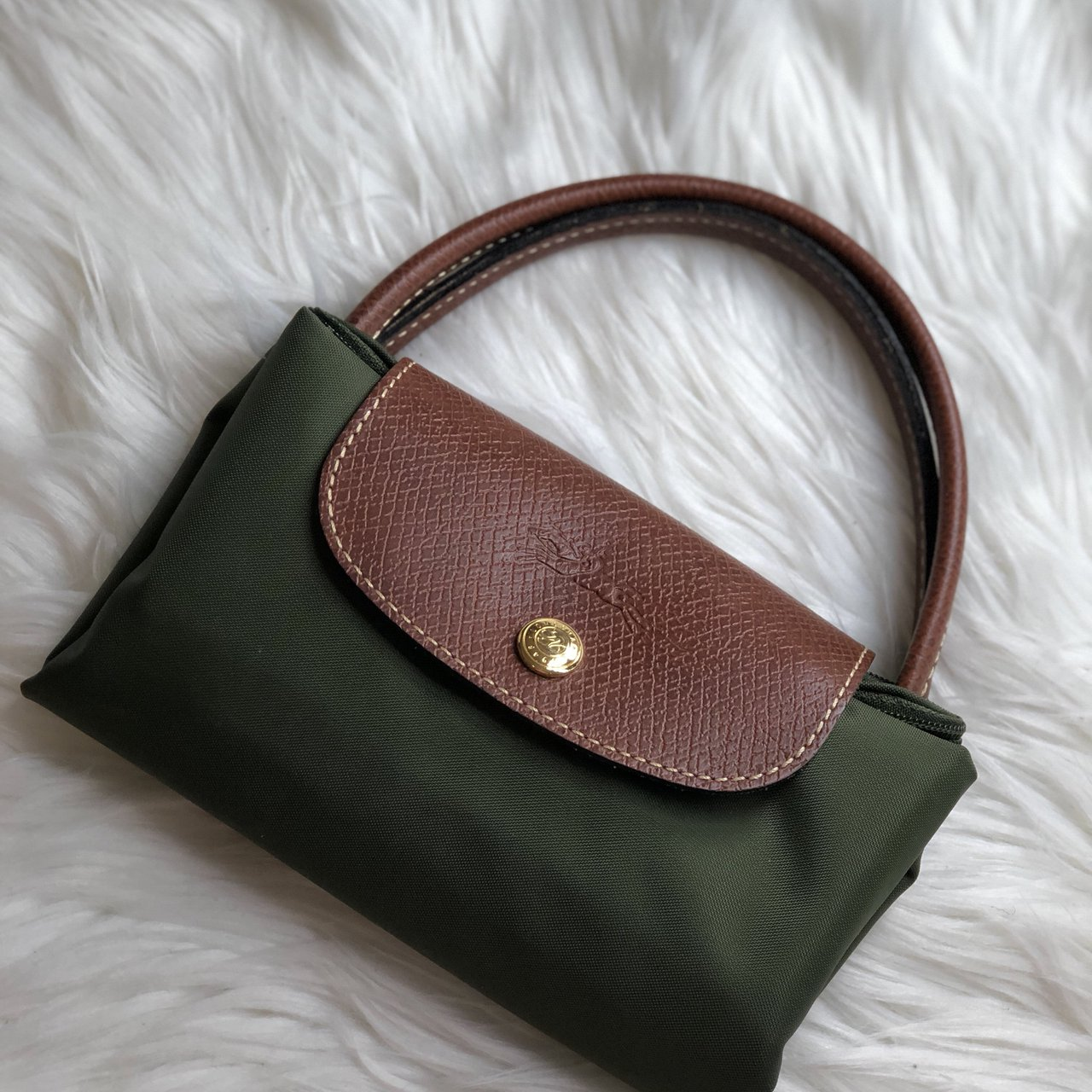 Longchamp Le Pilage tote Mini size in green. THIS IS NOT - Depop c2da3a525c756