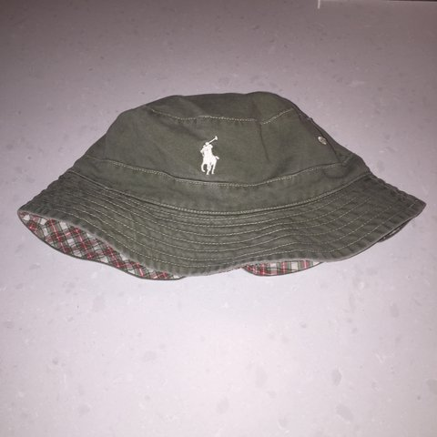 aad6db234a7 REVERSIBLE VINTAGE POLO BUCKET HAT BY RALPH LAUREN😮👁🔋🏇🏼 - Depop