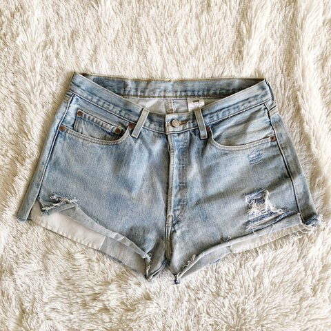 df1fd8ec32 @tanyewest. last year. Los Angeles, United States. Vintage Levi's 501 denim  cut offs. These are in a men's ...