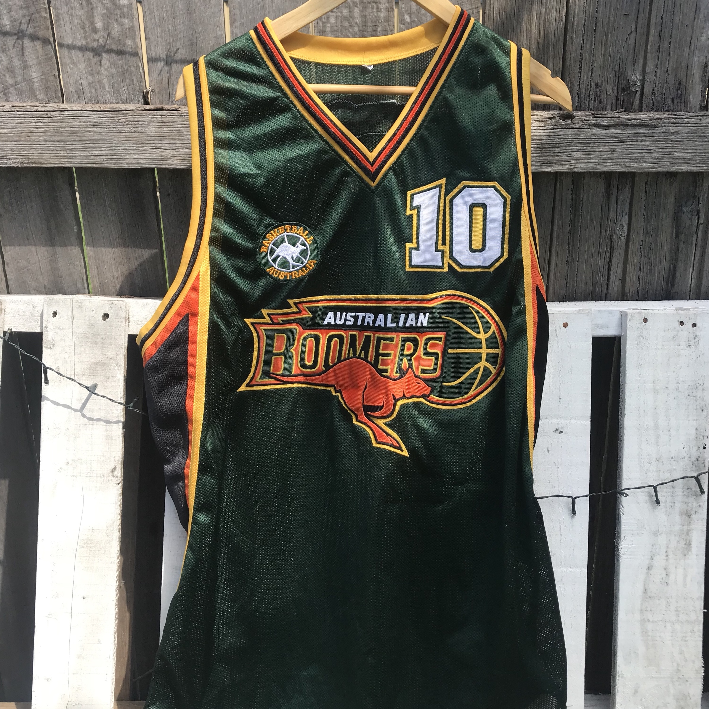 Andrew Gaze Boomers 90s style Jersey , Says XXL on...