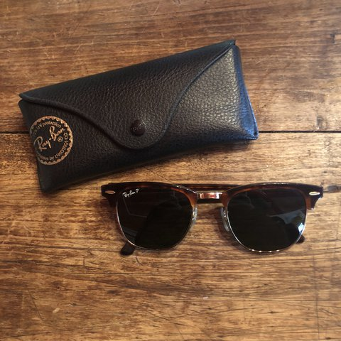 62045f4bb Ray-Ban Clubmaster sunglasses! These are polarized They are - Depop