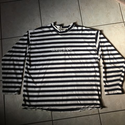 613a9fd6fc92 @garfusss. 2 years ago. Laredo, United States. Vintage OG Guess striped long  sleeve 🎱