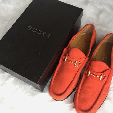 dbde9db6014 100% Authentic Woman s Gucci Loafers -Soft Suede in a bright - Depop