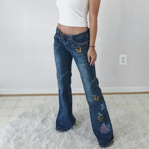 d5d59732cc8ba @niaonmypia. 6 months ago. United States. Butterfly Flared Denim Jeans.