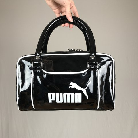 fef302df8f Glossy Puma Bag Super cute pvc pleather handbag purse! In a - Depop