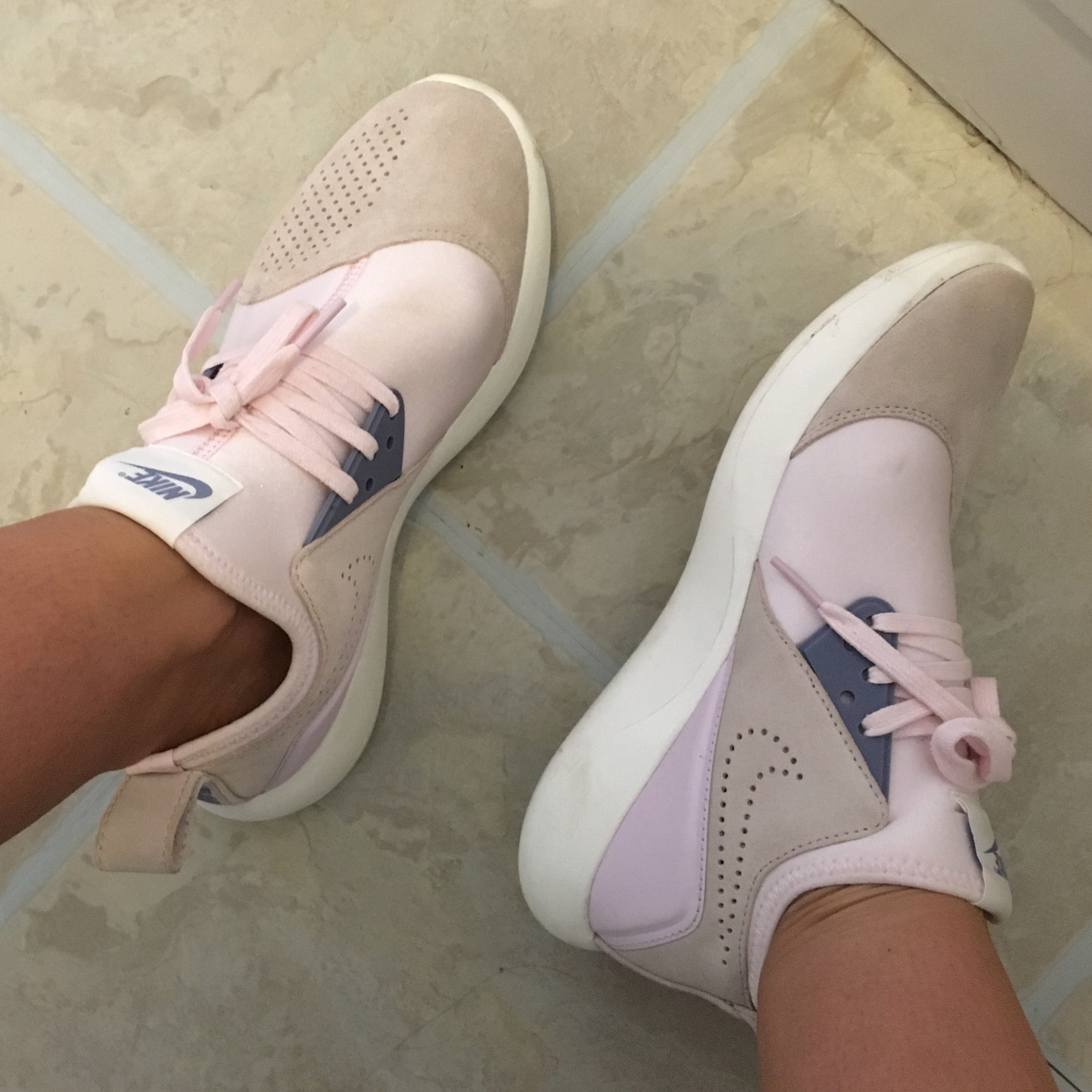 new concept 3468a ebb91 Nike trainers UK 5 Baby pink Brought from Schuh... - Depop