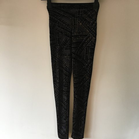 0cee9234bbe12a @skyeapplepie. 2 months ago. London, United Kingdom. Black velvet leggings  with gold glitter from river island.
