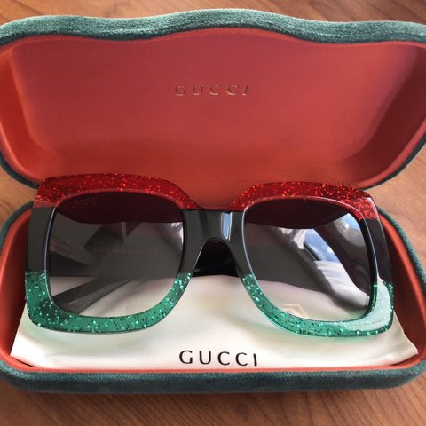 a2e613e78d1 Gucci unisex multicolored sunglasses in brand new condition! - Depop