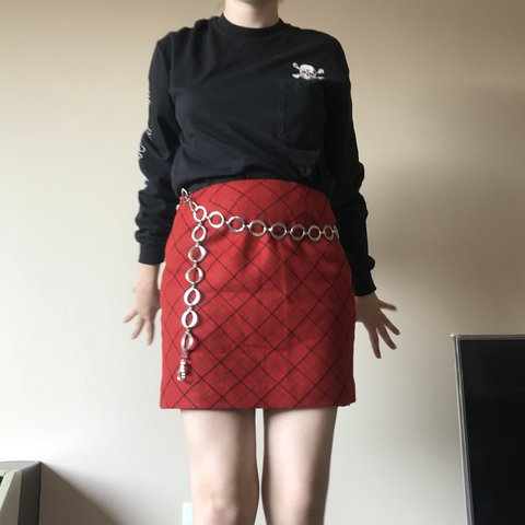 d690f96517 Staple plaid red skirt from J-crew! Lovely subdued print to - Depop