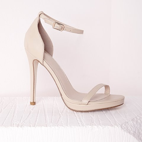 5dcac26e7a Barely there nude heels size 4. Bought from Missguided but - Depop