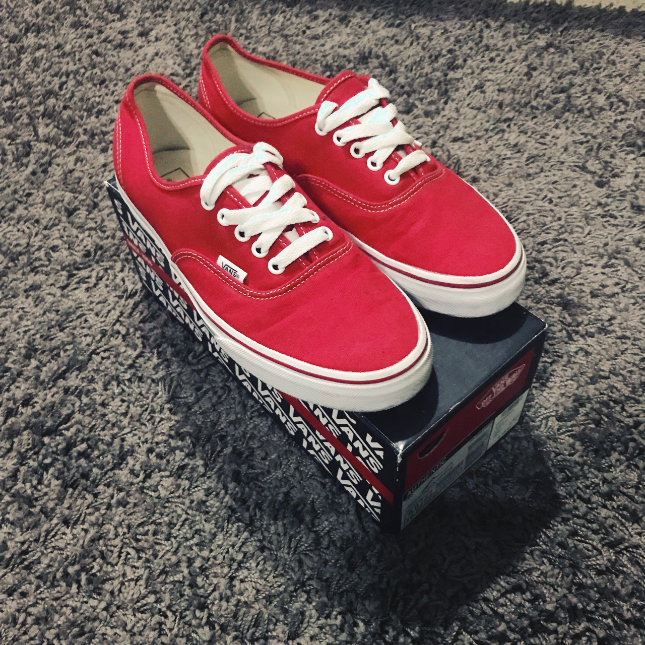 vans authentic rosse