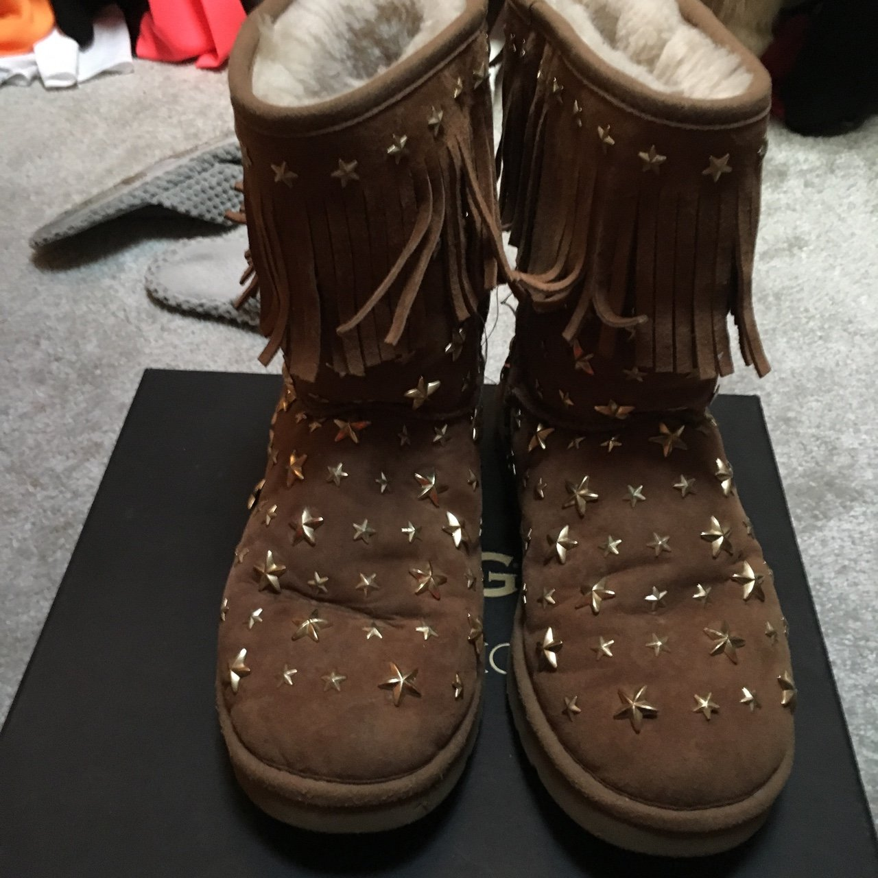 UGG Jimmy Choo boots. Limited addition. Worn in good Paid 5 - Depop fce591039