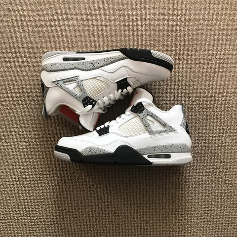 25c7fd05885 @watermelon23. 2 years ago. South Kensington, London SW7, UK. AIR JORDAN 4  WHITE CEMENT, DEADSTOCK, COMES WITH BOX, 2016 RELEASE WITH NIKE ...