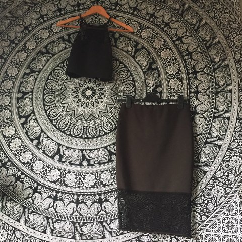 126ab8199db New Look Crop Top   Mid-Length Skirt Co-ord Mostly mesh a - Depop