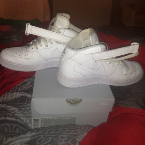 3aea00fbbda Shoes sneakers Nike airforce / witte nikes airforces - Depop