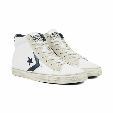 converse star player pelle bianche