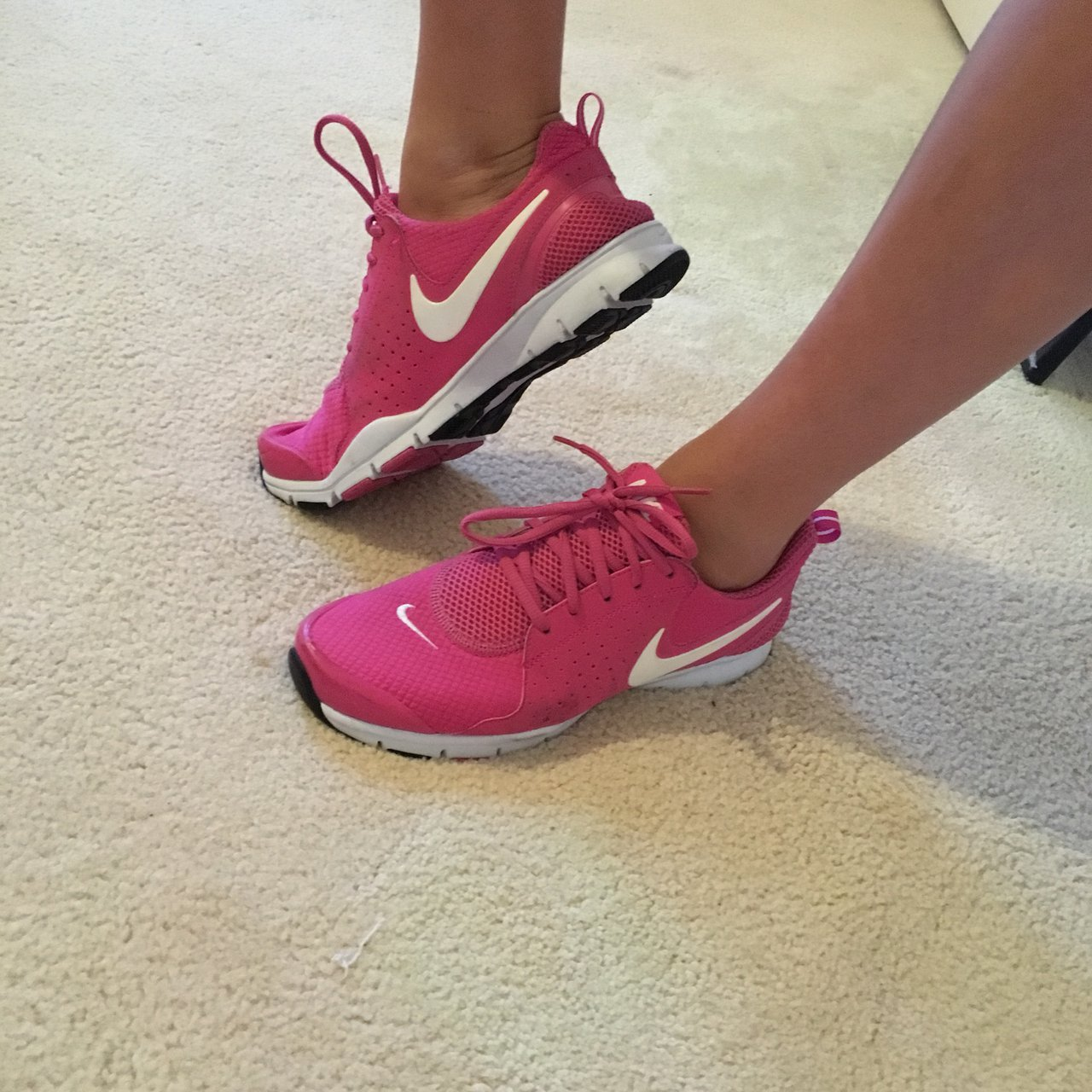 20df494c2cf862 Pink nike flex shoes. Can be used for exercise or leisure! - Depop