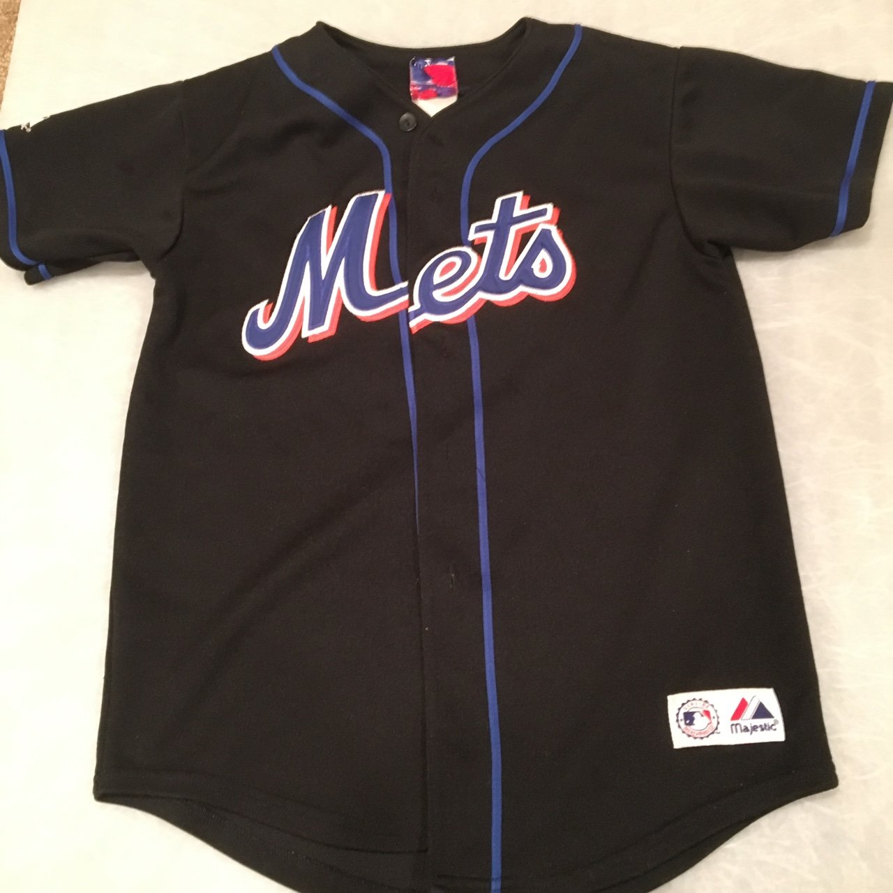 71f3b5e37 2002 New York Mets Mike Piazza Jersey Size Large Fading on - Depop