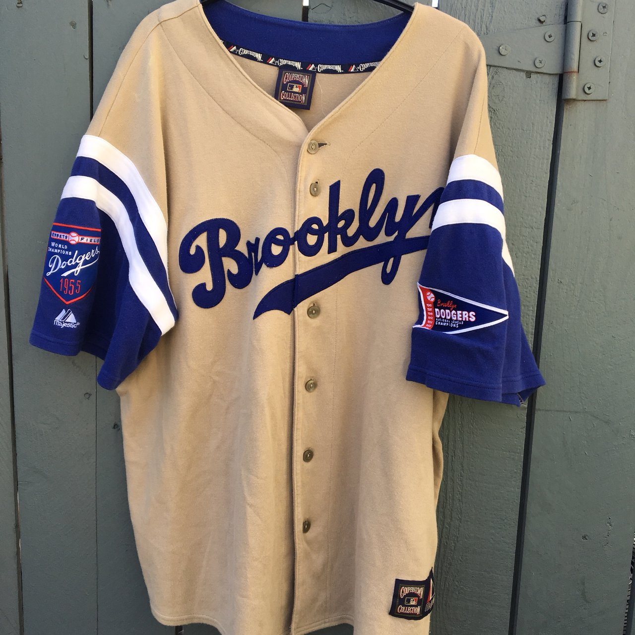 Vintage Brooklyn Dodgers jersey! Cooperstown collection with - Depop 732fe8f14d0