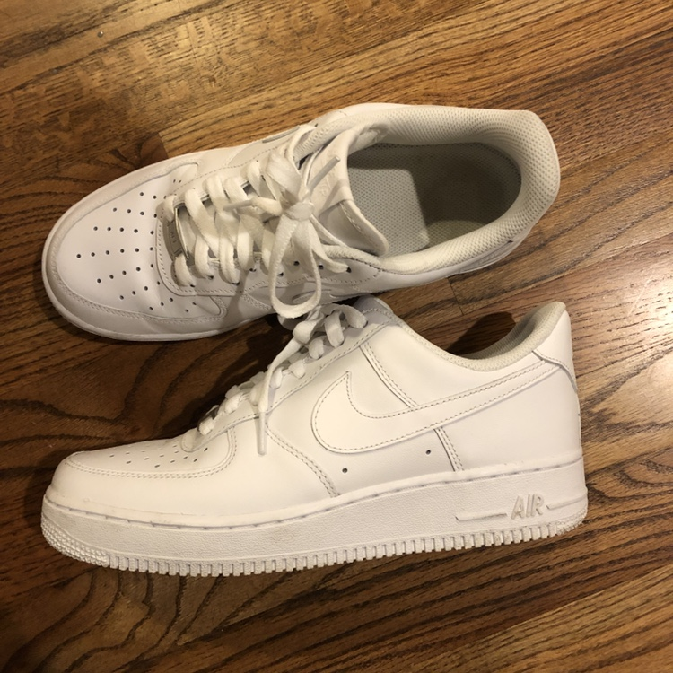 women's nike air force 1, 8.5-9/10 condition... - Depop