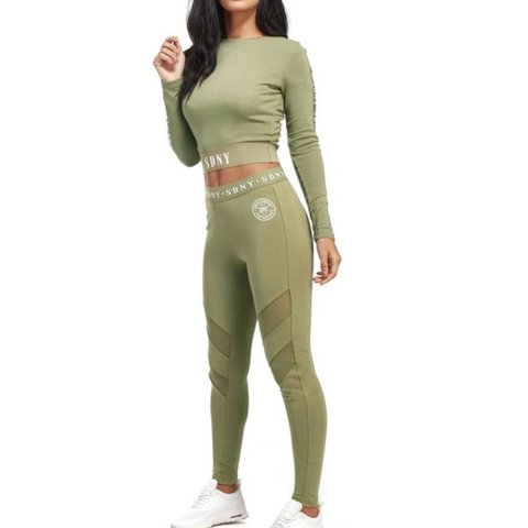 4e4a5834dfa8e2 @georgiac22. last year. Gillingham, United Kingdom. Supply and demand SDNY  green mesh panel leggings ...