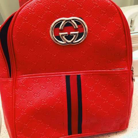 Vibrant Red Gucci Backpack